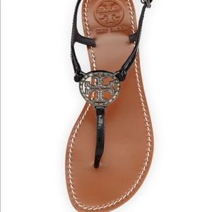 Tory Burch violet black thong sandal 8.5
